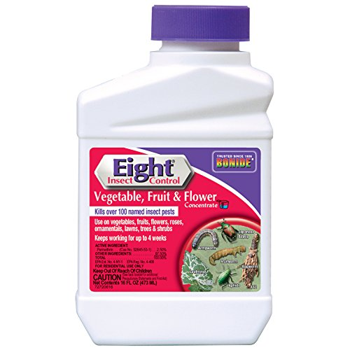 BONIDE PRODUCTS INC 442 Eight_Insect_Control_for_Vegetable_Fruit_and_Flower Insecticide/Pesticide_Concentrate, 16 oz