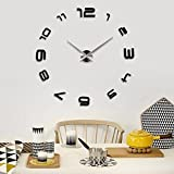 IN-INDIA TUZECH Big Wall Clock (Number Series) For Hotels/Restaurants/Schools/Home etc (Black)