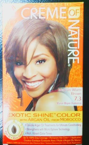 Creme of Nature Exotic Shine Color, Medium Warm Brown, 7.3
