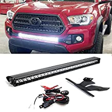 "iJDMTOY 30"" 150W High Power CREE LED Light Bar with Hidden Lower Bumper Mounting Bracket For 2016-up 3rd Gen Toyota Tacoma"