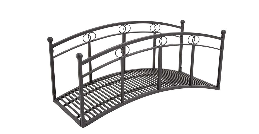 Deco 79 65322 Metal Garden bridge 72''W, 31''H -