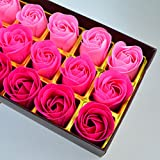 18 Pcs Artificial Rose Floral Scented Bath Soap Rose Flower Petals, Nydotd Plant Essential Oil Soap Set shaped Petals Gifts for Women Teens Girls Mom Birthdays Anniversary Wedding Valentine's Day Pink