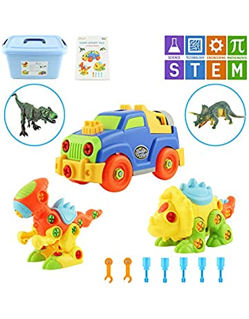 a3d9362769e MEIGO Dinosaur Toys - Toddlers STEM Learning Take Apart Toys Construction  Engineering Building Play Set for