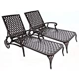 Amazon Com Biscayne Black Chaise Lounge Chair With Taupe