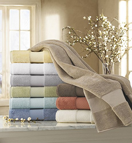 kassatex ottoman elegance collection towels bath sheet ivory - Kassatex
