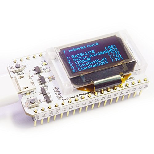 HiLetgo ESP32 OLED WiFi Kit ESP-32 0.96 Inch Blue OLED Display WiFi+Bluetooth CP2012 Internet Development Board for Arduino ESP8266 NodeMCU by HiLetgo