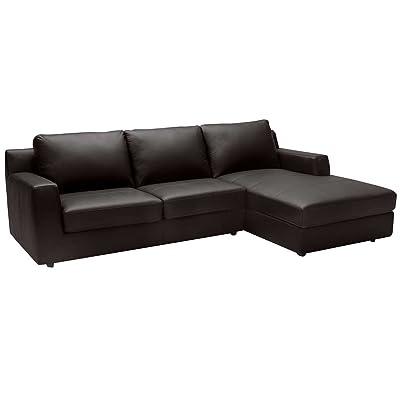 Amazon Com Baxton Studio Dakota Leather Modern Sofa