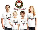 Reindeer Christmas Family Pajama Matching Shirts, Reindeer personalized Shirts, Christmas Reindeer Tshirts, Family Christmas pajama tees