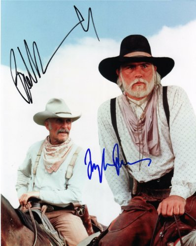 Tommy Lee Jones & Robert Duval Autographed Signed Lonesome Dove 8x10 Glossy RP Movie Photo - (Mint Condition)
