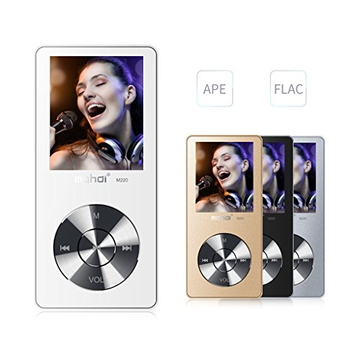 MYMAHDI 8GB Portable MP3 Player(Expandable Up to 128GB), Music Player/ One-key Voice Recorder/ FM Radio 70 hours playback with external speaker HD Headphone, White