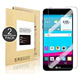 LG G6 Screen Protector [2 Pack] - Linboll Tempered Glass Screen Protector for LG G6 [Easy Installation] [Bubble Free] [Crystal Clear][9H Hardness][Scratch-Resistant] for LG G6