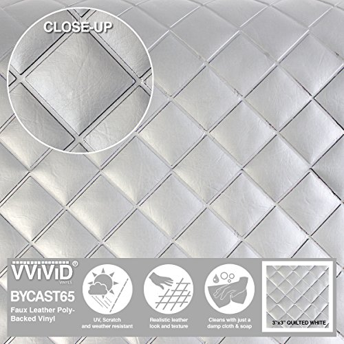 VViViD Bycast65 White Quilted 3