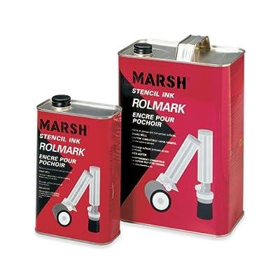 Marsh Rolmark Stencil Ink, 1 Gallon, Black- Uline (STRO44)