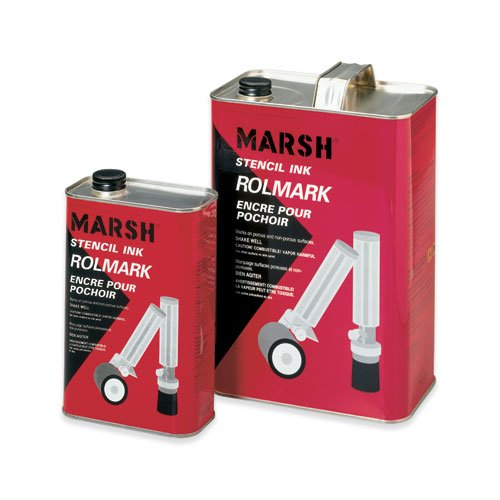 Marsh Rolmark Stencil Ink, 1 Gallon, Black- Uline (STRO44) by Marsh