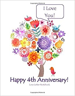 amazon in buy happy 4th anniversary love letter notebook i love