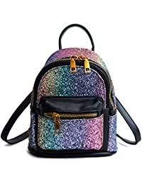 Women Girl Bling Mini Backpack Convertible Shoulder Cross Bags Purse