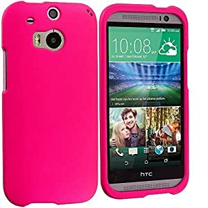 Accessory Planet(TM) Hot Pink Hard Snap-On Matte Rubberized Case Cover Accessory for HTC One M8
