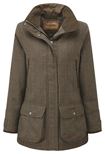 Schöffel Ptarmigan pedantes-abrigo para mujer Cavell Tweed