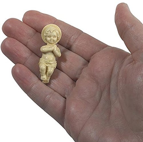 Religious Gifts Jesus Christ Child Figurine 1 3/4 Inch Plastic Baby for Nativity Set or Kings ()