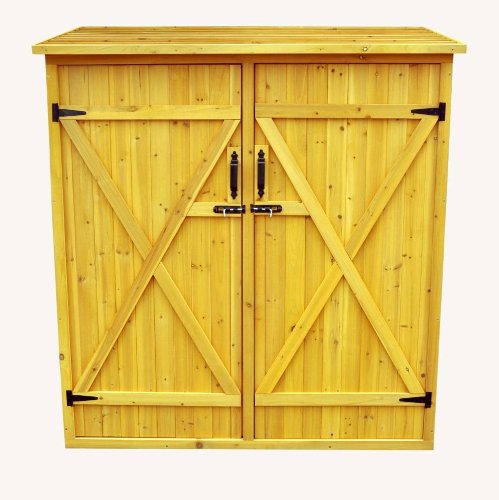Leisure Season Medium Storage Shed, Solid Wood, Decay Resistant