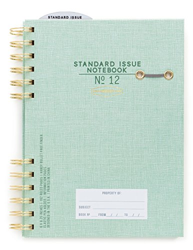 DesignWorks Ink Standard Issue Split Twin-Wire Bound Personal Journal, Green