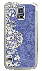 Blue And White Pattern PC Transparent Hard Case Cover Skin For Samsung Galaxy S5 I9600