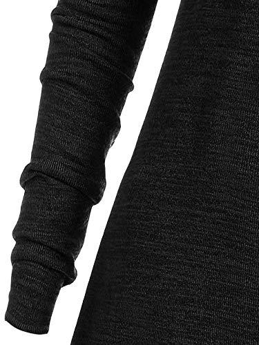 Yvelands Tallas Grandes Mujer Moda Sólido Fruncido Largo Foldover Collar Túnica Top Blusa Tops: Amazon.es: Ropa y accesorios