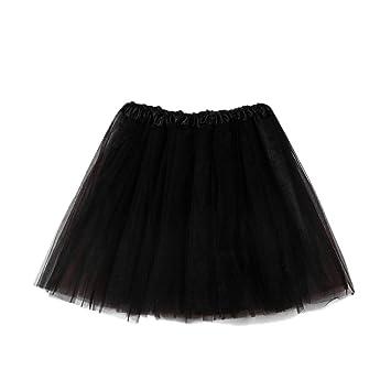 07b62de66b Amazon.com : Inkach Women Tutu Skirt Costume - Classic 3-Layered Ballet Tulle  Skirts Short Fluffy Petticoat (Black) : Baby