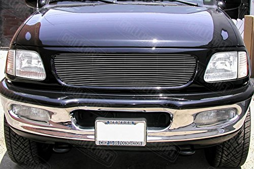 Grillcraft FOR1300-BAC BG Series Polished Aluminum Upper 1pc Billet Grill Grille Insert for Ford Expedition -