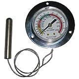 Crescor 5238-018-K Thermometer 2'' Dia Bulb 1/4 X 2.5 70-220F 3'' Flange Cres-Cor 120Ph 121Ph 621049