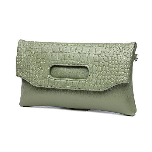 Handbag Color Envelope Green Folding Green Leather Handbags Bag Banquet Dinner Leather Package E1xwzq6Z4