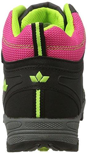 Lico Terrain, Zapatos de High Rise Senderismo para Niñas Rosa (Pink/schwarz/lemon)
