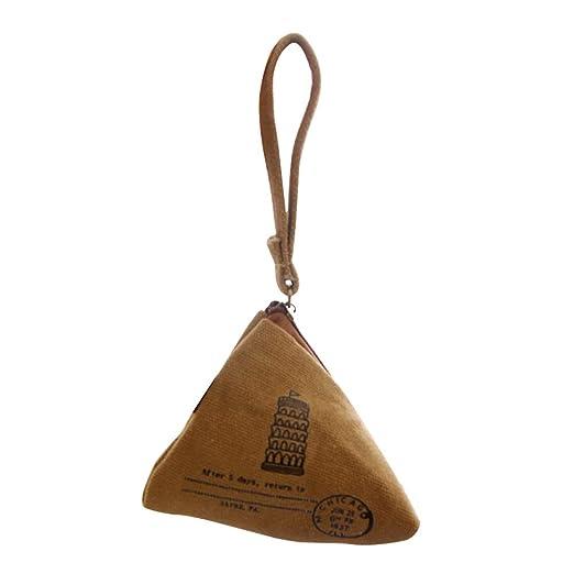 Hosaire 1X Monedero de Lona Monedero Estilo Lindo triángulo ...