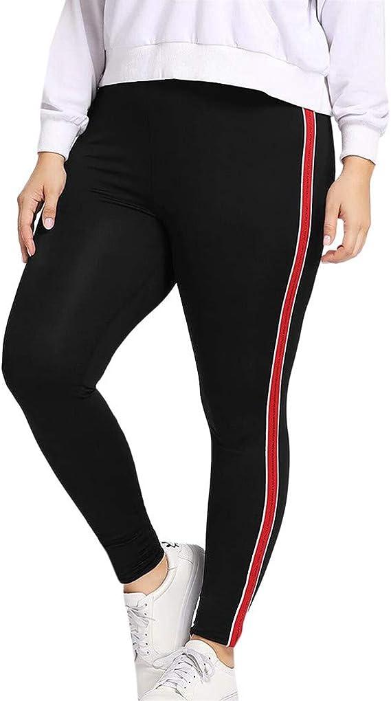LHWY Pantaloni Fitness Donna Pantaloni Sportivi con Leggings Sportivi Elastici con Taglie Forti Eleganti Vita Alta Push Up Pantaloni Invernali Tumblr Running