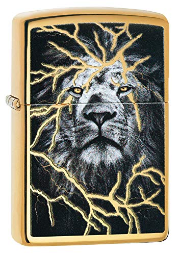 Zippo Lightening Lion Design Pocket Lighter
