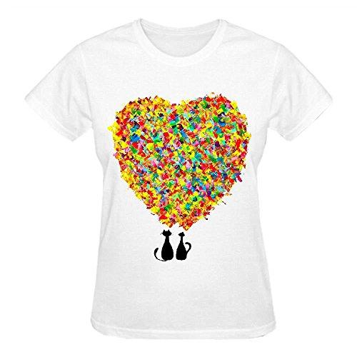 Love S6x Crew Neck Tee Shirts Women White