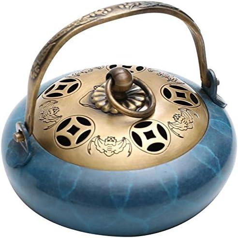エレガントな 香炉、燃えブルー純銅Insencesホルダー、アロマ装飾ホームオフィスヨガ用Aromatherapyincenseスティックホルダー 絶妙な (Color : A)