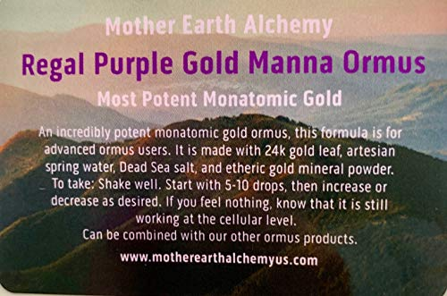 Regal Purple Gold Manna Ormus the Most Potent Ormus You Can Buy