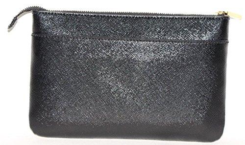 Tory-Burch-Saffiano-Leather-Robinson-Clutch-Hand-Purse-Black