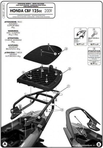 Givi Monolock Topc Ase Rack For Honda Cbf 125 Auto