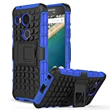 Nexus 5X Case - MoKo Heavy Duty Rugged Dual Layer Armor with Kickstand Protective Cover for Google Nexus 5X by LG 5.2 Inch 2nd Gen Smartphone, BLUE (Not Fit LG Nexus 5 2013 Version)