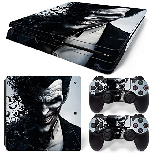 ZoomHit Ps4 Slim Playstation 4 Slim Console Skin Decal Sticker The Joker + 2 Controller Skins Set (Slim Only)