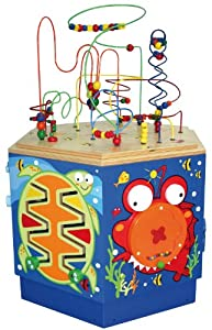 Hape Coral Reef Wooden Activity Center Table Toys Games
