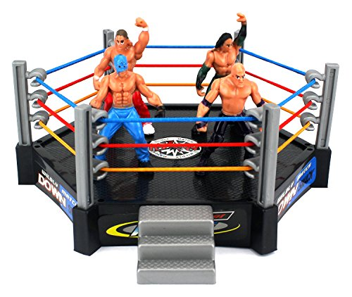 VT Ring King Wrestling Toy Figure Play Set w/ Ring, 4 Toy Figures (Action Figure Rollins New Seth)