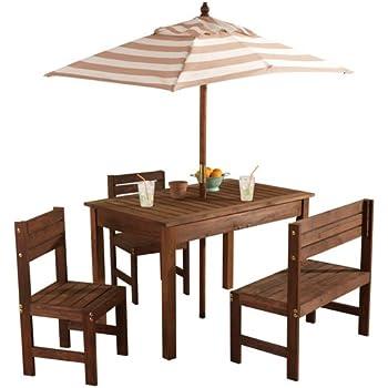 Amazon Com Costzon Kids Picnic Table Amp Bench Set 4 Seat
