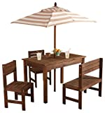 KidKraft Oatmeal & White Outdoor Patio Set