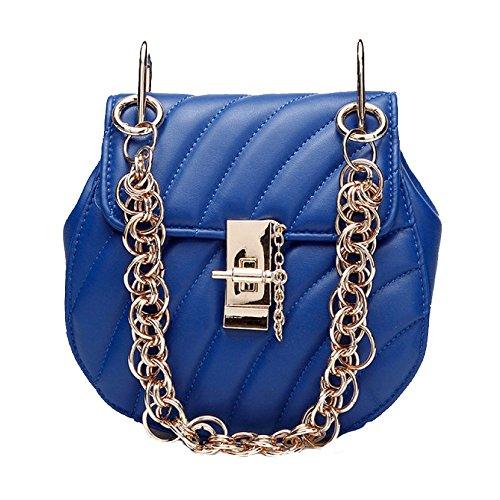 En Sac Messenger Zll Blue Women's Bag Bandoulière À Vintage Main Mme La Cuir pazfaW