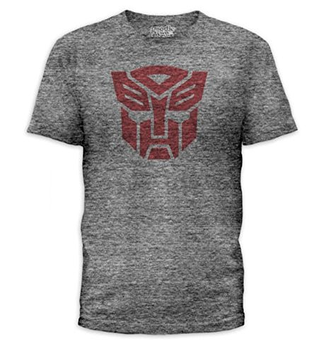 Transformers Autobots Logo Adult Heather Gray T-Shirt (Adult Small)