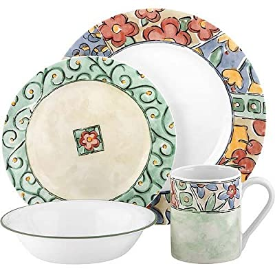 Corelle Impressions 16-Piece Dinnerware Set - Dishwasher safe for long lasting patterns Microwave and oven use for versatility Break, chip and scratch resistance for carefree durability - kitchen-tabletop, kitchen-dining-room, dinnerware-sets - 51qMg6JvRHL. SS400  -