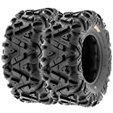 Set of 2 Sun.F A033 ATV UTV Tires 6 Ply, Size 26x8-12